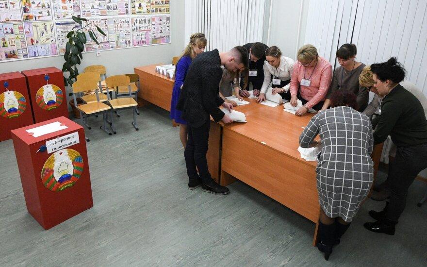 Per tris dienas Vilniuje Baltarusijos prezidento rinkimuose iš anksto balsavo 88 asmenys