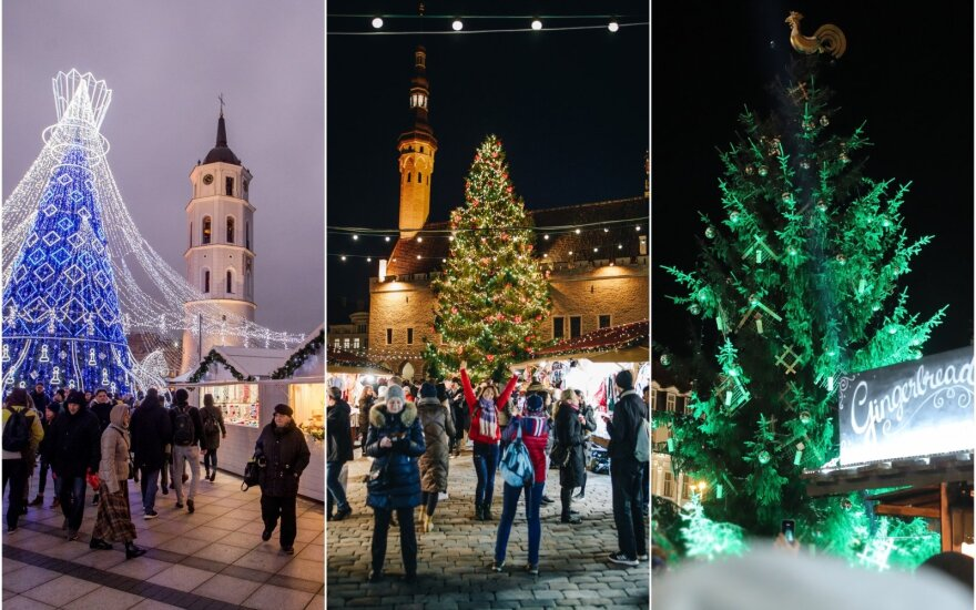 Kalėdiniai miesteliai Baltijos šalių sostinėse