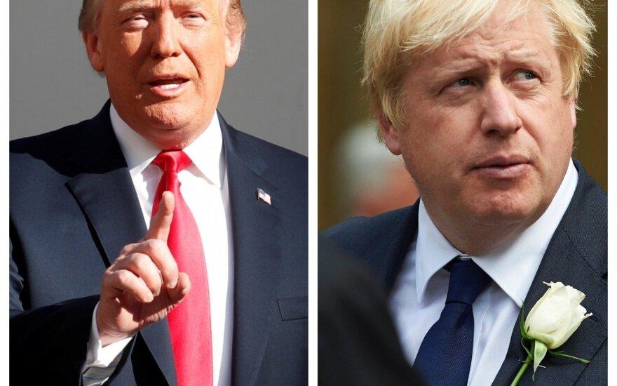 Donaldas Trumpas ir Borisas Johnsonas