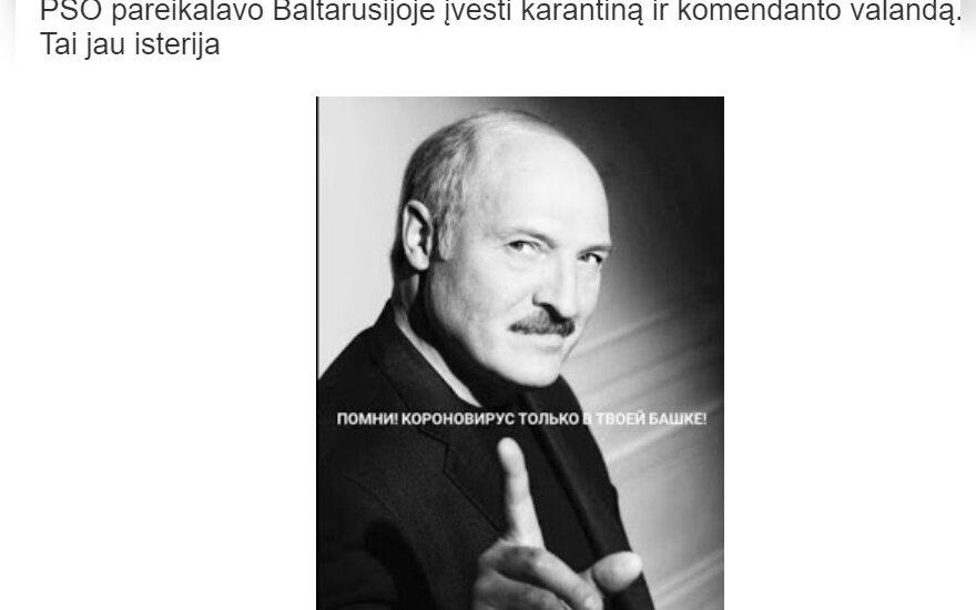 Lietuvoje sugebėjo pranokti net Lukašenką: skelbia apie neegzistuojančius reikalavimus ir planus