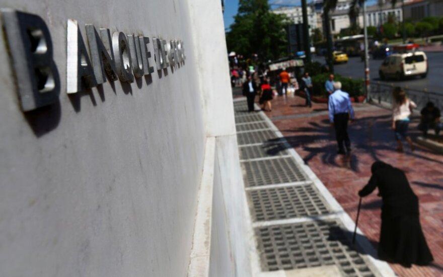 Centrinis Graikijos bankas: tikimybė, kad šalis išstos iš ES, sumažėjo