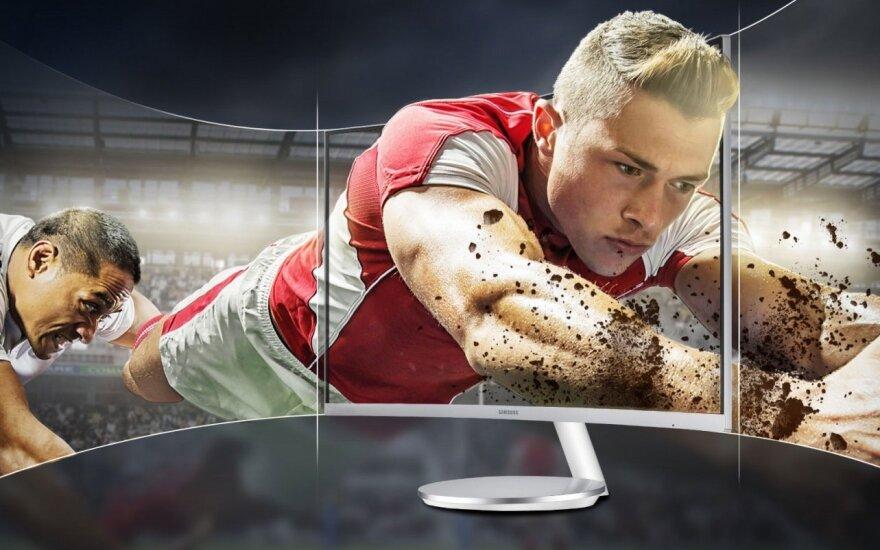 Samsung monitorius lenktu ekranu