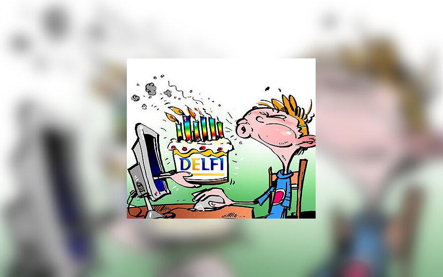 Šeštasis DELFI gimtadienis - karikatūra