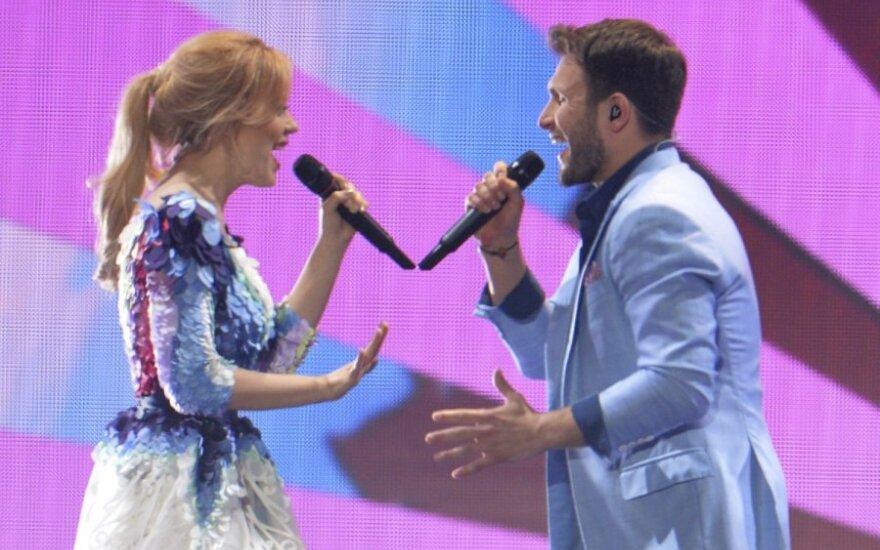 """Įvertink! Monikos ir Vaido pasirodymas """"Eurovizijos"""" finale"""