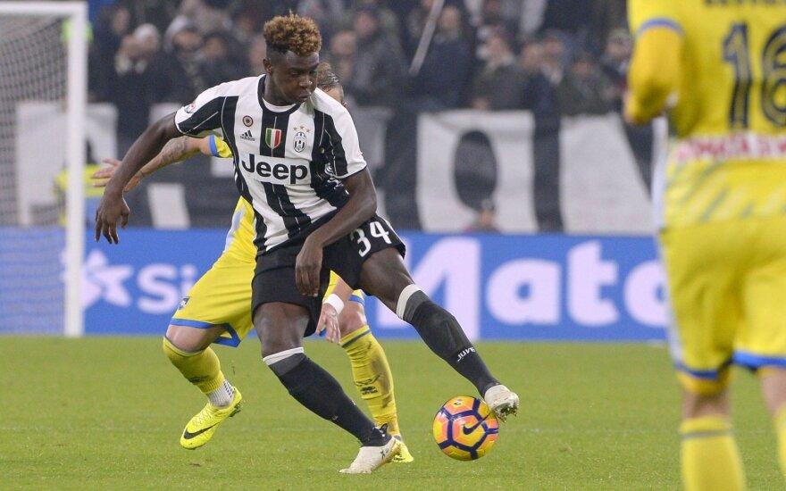 """Istorinis debiutas: """"Serie A"""" mače žaidė 16-metis """"Juventus"""" puolėjas"""
