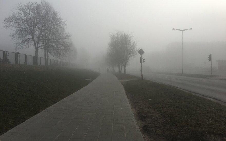 Vakarų Lietuvoje ir Marijampolės apskrityje – rūkas