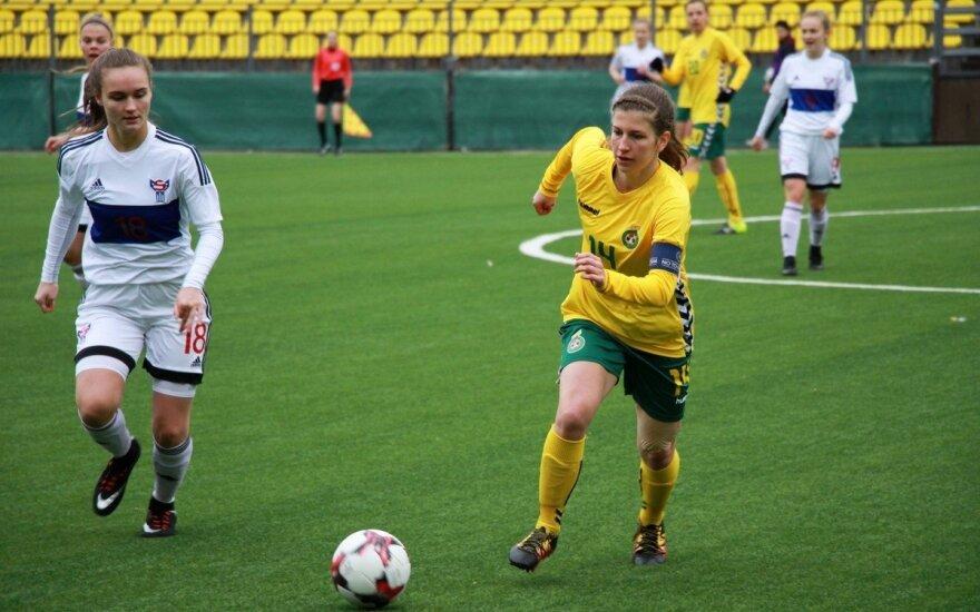 Susitinka Lietuvos ir Farerų salų U-18 merginų rinktinės