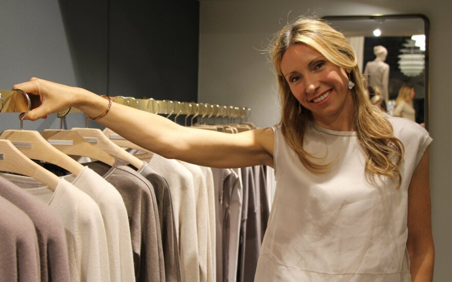 Inga Sataite in her Fabiana Filippi store at Birger Jarlsgatan 2 in Stockholm