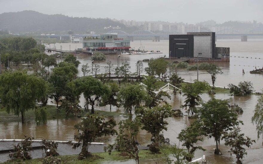 Potvyniai Pietų Korėjoje