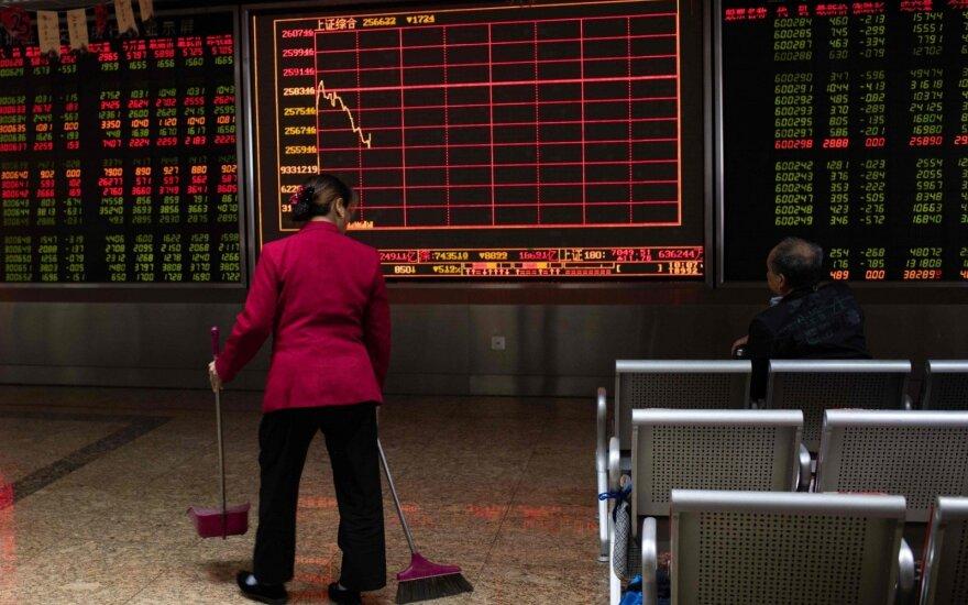 """""""Biržos laikmatis"""": vyraujant blogoms naujienoms, viršų akcijų biržose ima pardavėjai"""