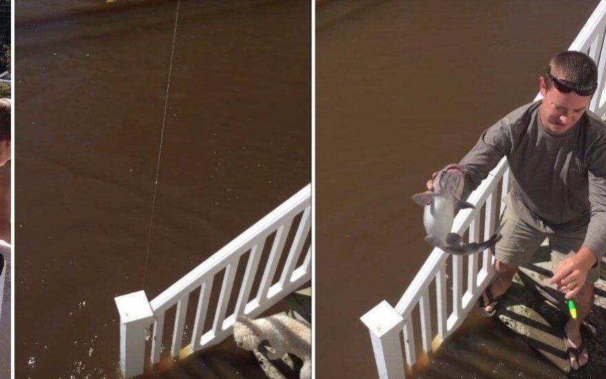 Žvejyba nuo namų slenksčio