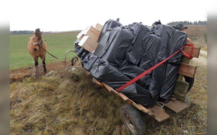 Pareigūnams pakluso tik arklys, o kontrabandininkus teko pasivaikyti