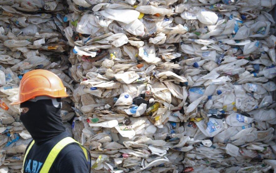 Plastikas paruoštas perdirbimui