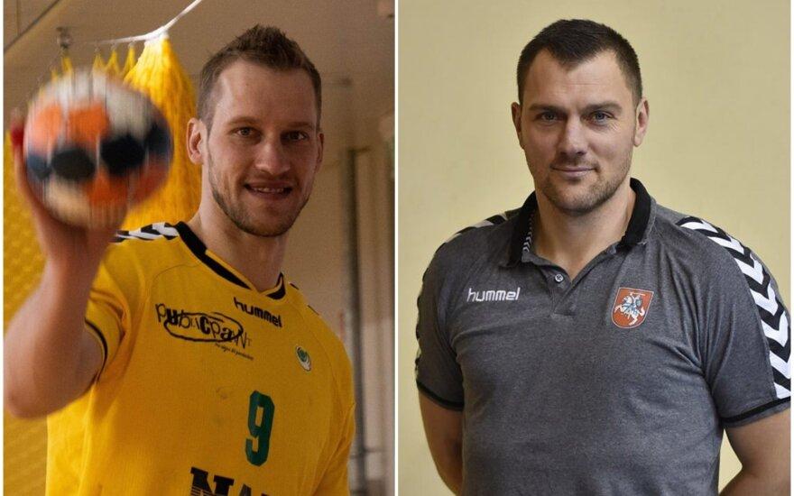 Povilas Babarskas ir Mindaugas Andriuška / FOTO: Lietuvos rankinio federacija