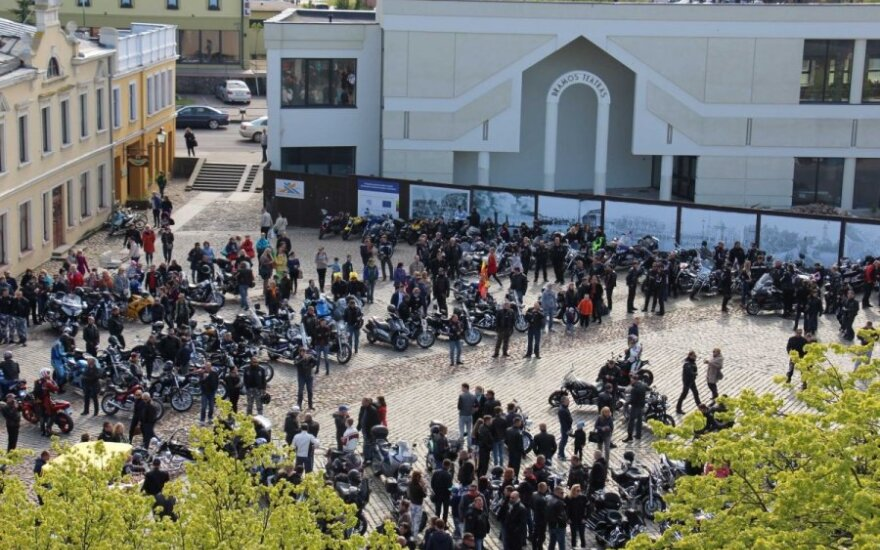 Įspūdingas reginys: vienoje vietoje – 552 motociklai