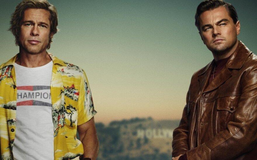 """Bradas Pittas ir Leonardo DiCaprio filme """"Vieną kartą Holivude"""""""