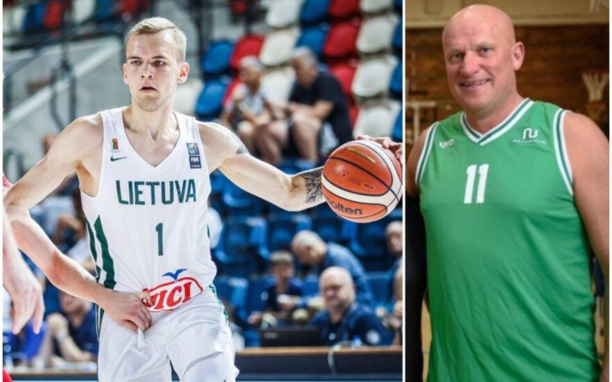Arnas Velička ir Romanas Brazdauskis (FIBA ir A. Aleksandravičiaus nuotr.)