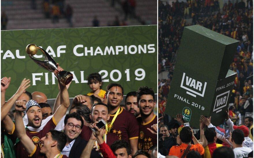 CAF Čempionų lygos finalas baigėsi skandalu dėl neveikiančios VAR sistemos