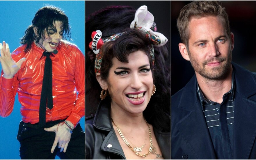 Michael Jackson, Amy Winehouse, Paul Walker