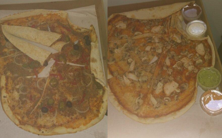 Negalėjo patikėti: atvežė picas tarsi davinį kiaulėms
