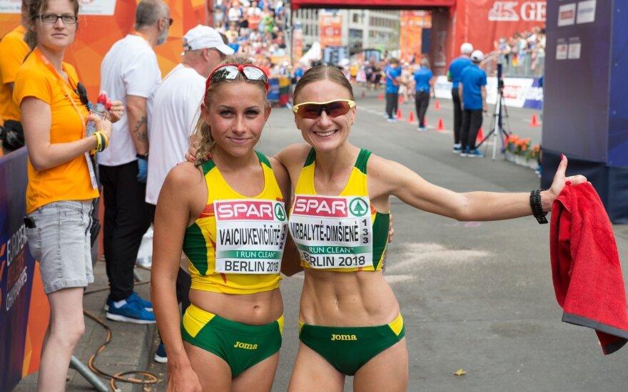 Europos lengvosios atletikos čempionatas: sportinis ėjimas - Brigita Virbalytė ir Živilė Vaiciukevičiūtė