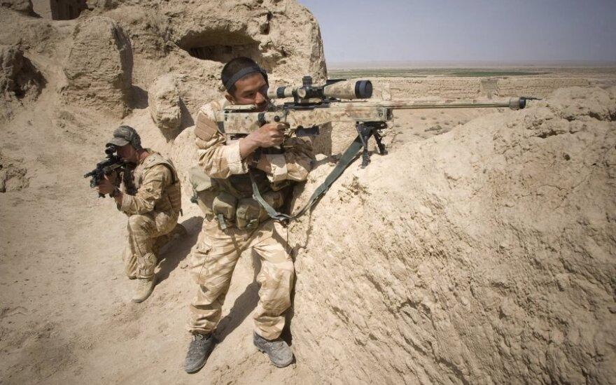 Britų karališkųjų jūrų pėstininkų dalinio kariai Afganistane