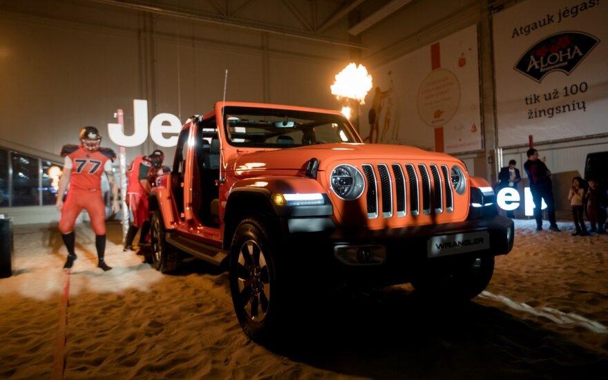 Jeep Wrangler pristatymas