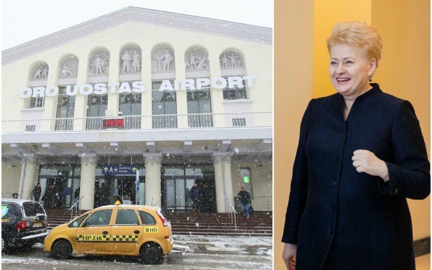 Vilniaus oro uostas ir Dalia Grybauskaitė