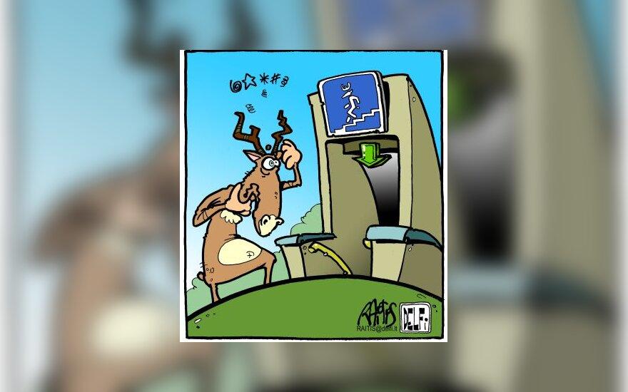 Žvėrių požeminė perėja - karikatūra