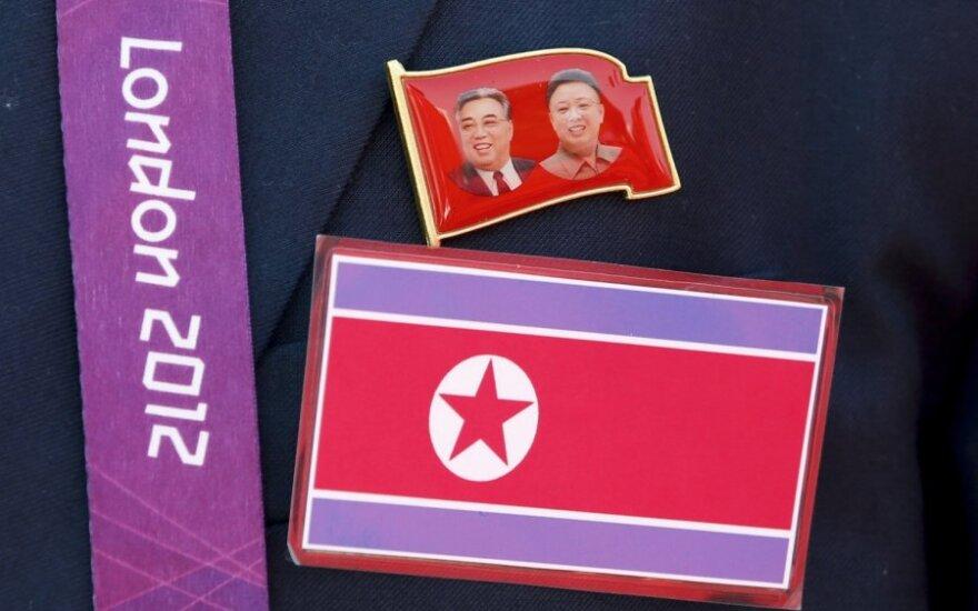 Olimpiados organizatoriai supainiojo Šiaurės ir Pietų Korejų vėliavas