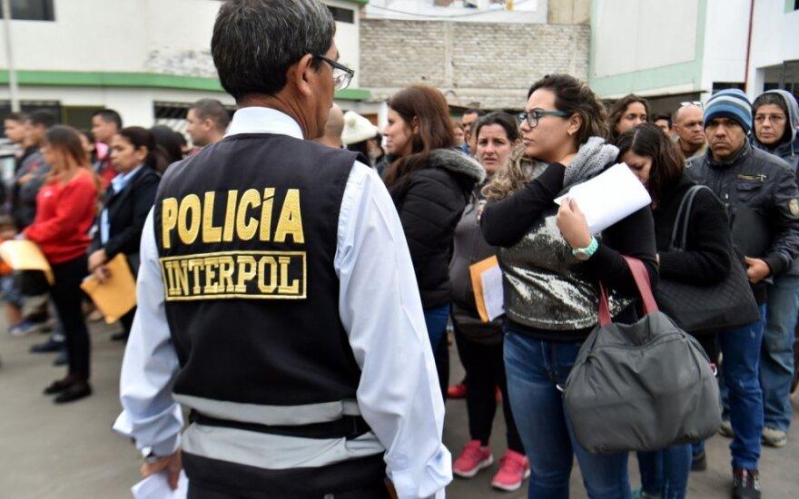 Migrantai prie Kolumbijos pasienio