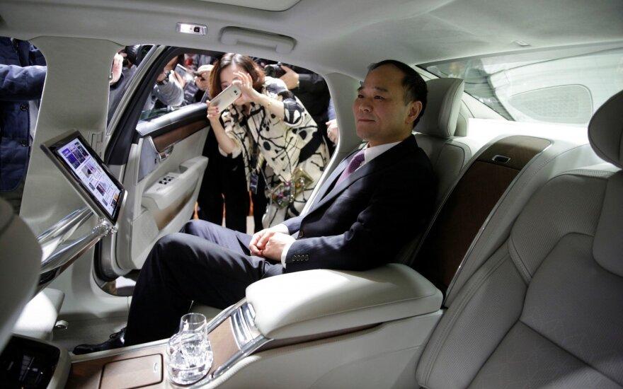 """Li Shufu pristato prabangiausią sedano """"Volvo S90"""" versiją """"Excellence"""""""