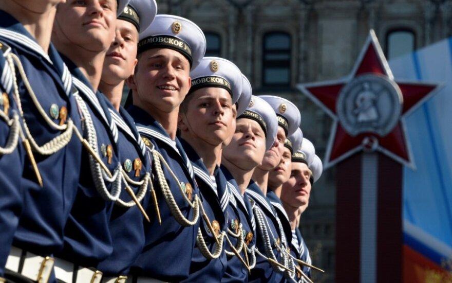 Rusija mini Pergalės dieną