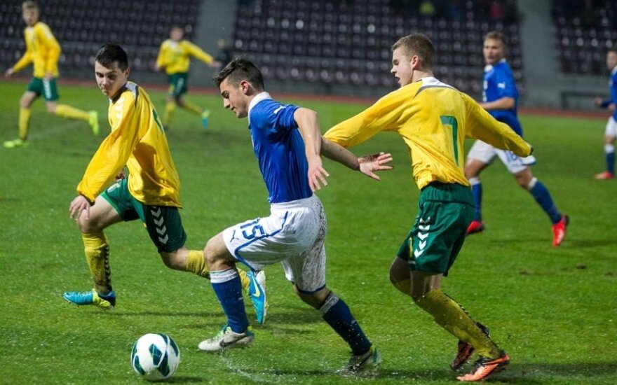 Lietuvos ir Italijos U17 rinktinų mačas (S.Čirbos/LFF.lt nuotr.)