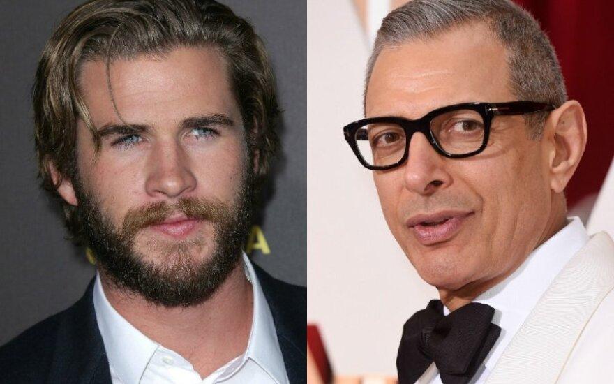 Liamas Hemsworthas ir Jeffas Goldblumas