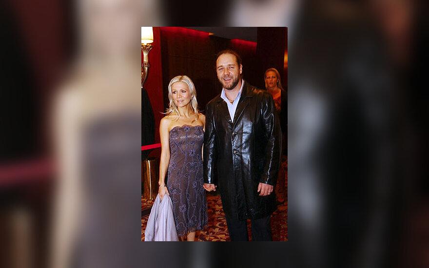 Danielle Spencer ir Russel Crowe