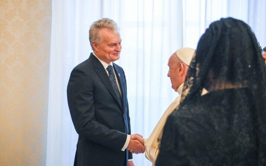 Gitanas Nausėda, Popiežius Pranciškus