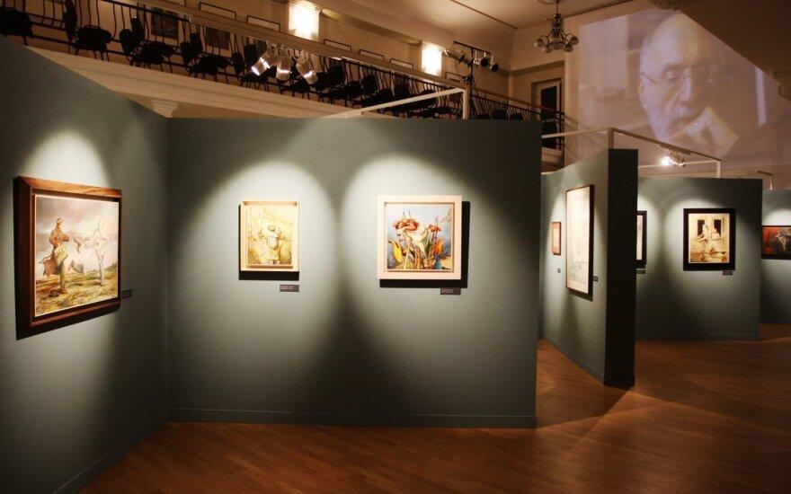 """Samuelio Bako paroda """"Gyvenimo stotys"""" Valstybinio Vilniaus Gaono žydų muziejaus Tolerancijos centre"""