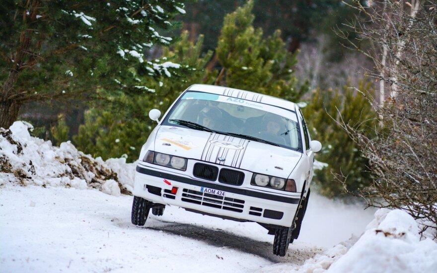 """""""RR Team"""" varžosi """"Winter Rally 2019"""". Alfonso Rakausko nuotr."""