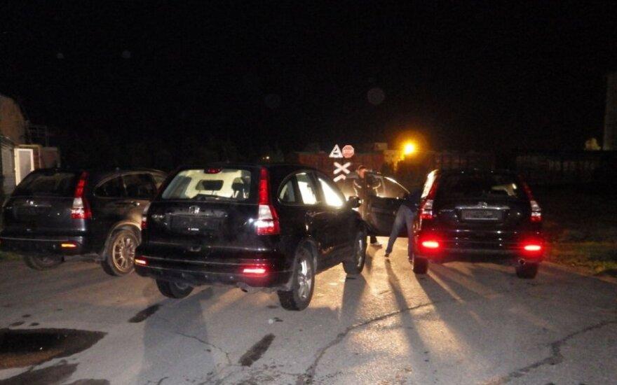 """Kauno policija traukinyje aptiko tris vogtus """"Honda CRV"""""""