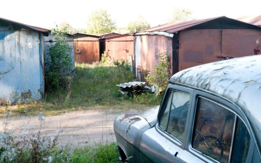 Vilniuje pavogtas metalinis garažas su dviem senoviniais motociklais