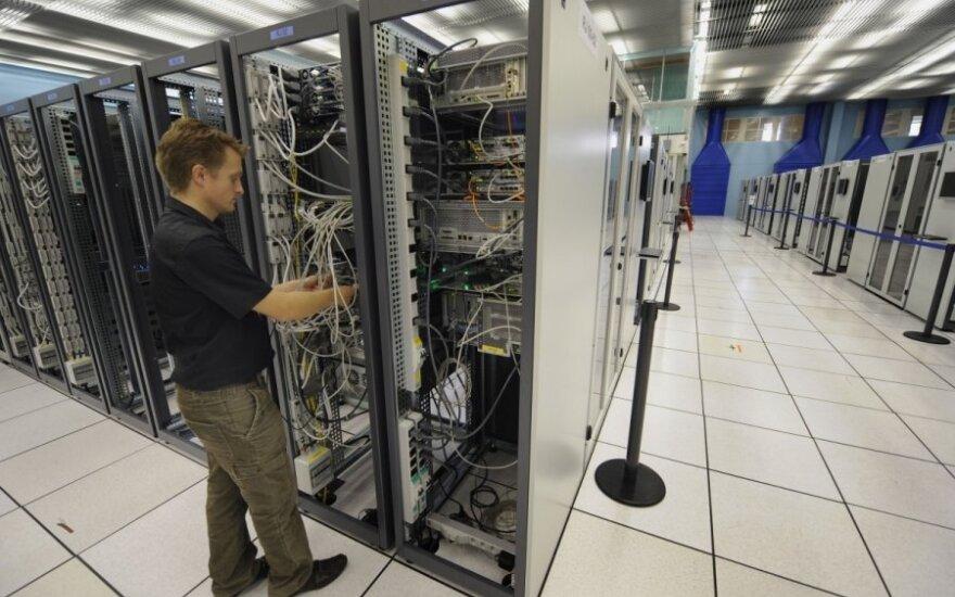 Pasaulinio skaičiavimo tinklo patalpa CERN laboratorijoje