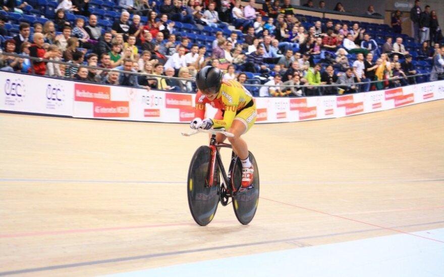 Europos dviračių treko čempionate geriausiai sekėsi A. Trebaitei
