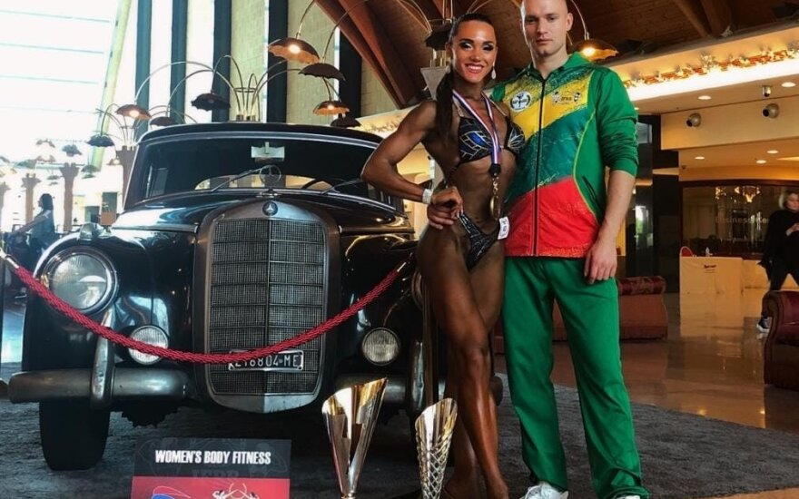 Virginija Kaminska ir treneris Nojus Liutikas