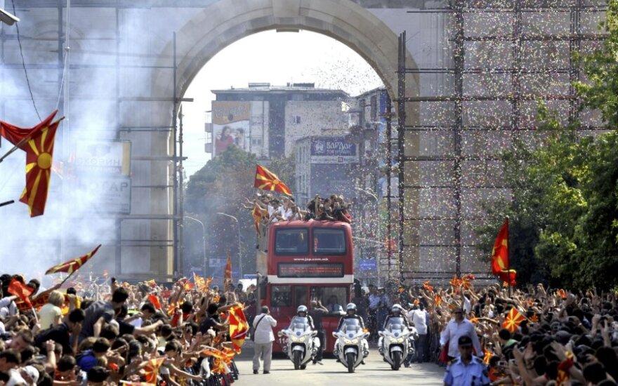 Makedonijos rinktinės sutikimas