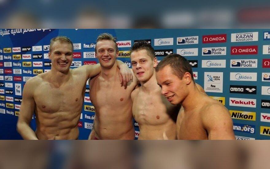 Lietuvos plaukikų ketvertas pagerino šalies rekordą