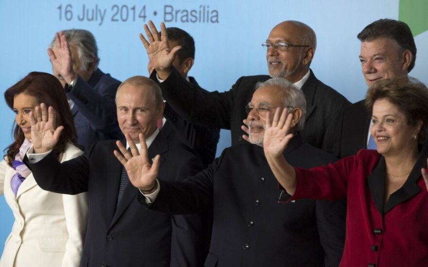 Vladimiras Putinas su Pietų Amerikos valstybių ir Indijos lyderiais