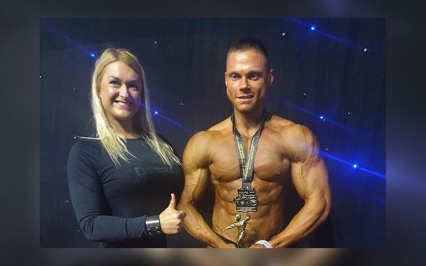 Kultūristas T. Kairys tapo pasaulio vicečempionu. IFBB.lt nuotr.