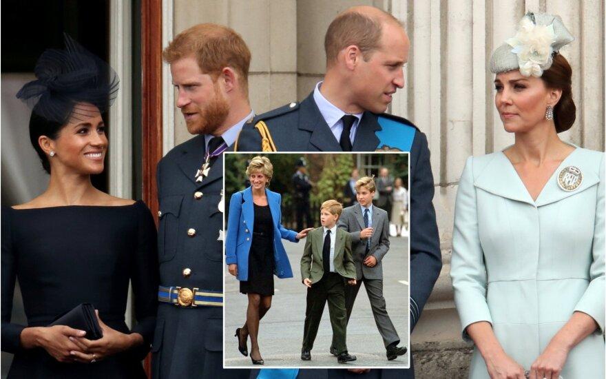 Princai Williamas ir Harry su žmonomis / Foto: Scanpix / PA, Reuters