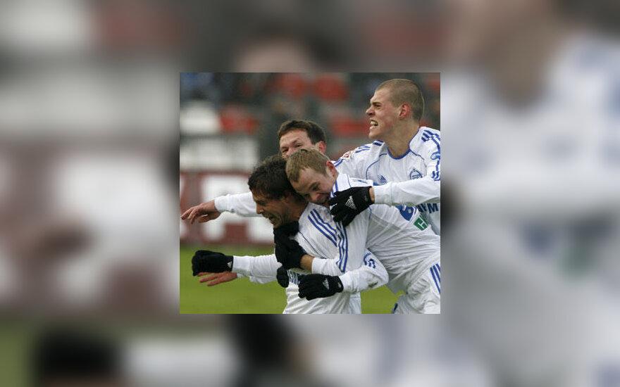 """""""Zenit"""" žaidėjai džiaugiasi tapę Rusijos čempionais"""